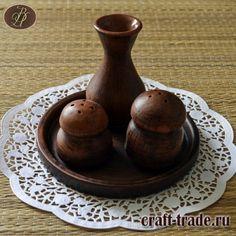 Керамический набор для специй Вкуснотень  - гончарная посуда из глины  ручной работы 3 предмета на подставке купить в интернет магазине Рукоделец