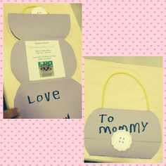 Mother's Day Craft- made these lovely purses into invitation to Muffins for Mom