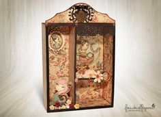 Altered box with the fabulous collection Mirabelle Santoro.