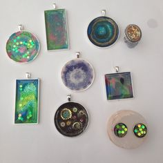 4 beginners at this resin class- well done team Westhope #loveresin #westhopecollege #resinpendant