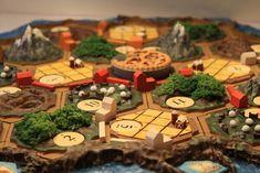 Pirate Ship Robber Settlement City Barn Grain Elevator Settlers of Catan Custom Board Game Pieces Farming Theme Gift for Farming Gamer