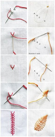Chain Stitched Hearts Tutorial