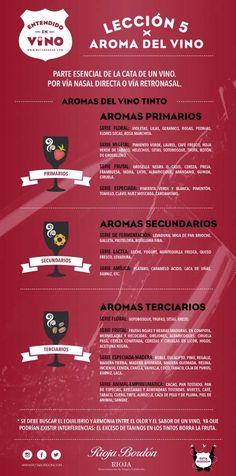 aromas del vino, infografia, rioja bordon, bodegas franco españolas