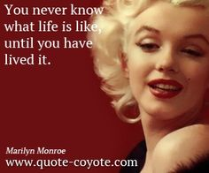 Marilyn Monroe Quotes About Life This Life Is What You Make It - Album on quotesvil.com