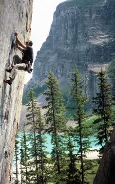 climbing & travelling — Climbing near lake Louise