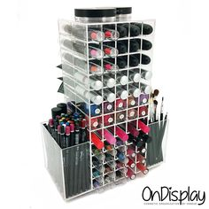 OnDisplay 120 Rotating Acrylic Lipstick/Makeup Organizer - got it for $69 and it's made of quality acrylic, sturdy. This holds more and is cheaper than the Zahara holder