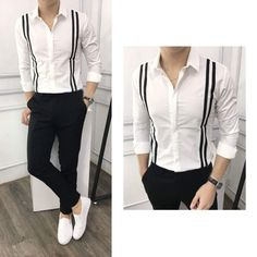 Stylish Mens Outfits, Stylish Shirts, Casual Shirts, Casual Outfits, Men Casual, Mens Designer Shirts, Designer Suits For Men, Indian Men Fashion, Mens Fashion Suits