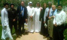Visiting the Prince Ahmed Institute for Applied Media Studies in Riyadh, Saudi Arabia, with my American Press Institute colleague Carol Ann Riordan.