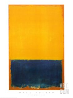 Yellow and Blue Print by Mark Rothko. from Art.com, $25.99
