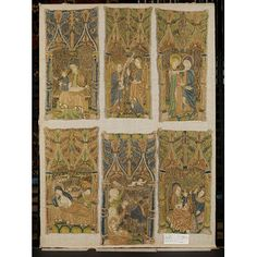 Fragments of embroidery Medieval Embroidery, Victoria And Albert Museum, Silk Thread, Renaissance, Vintage World Maps, Objects, Scene, Collections, Explore