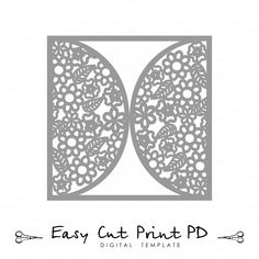Wedding Invitation Card Template Flourish Lace Folds Cover  Svg