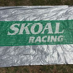 Skoal Racing Banner 21 Feet Long Vinyl Man Cave Tobacco Tailgating Green & White