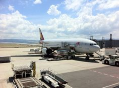Asiana Airlines aircraft loading cargo