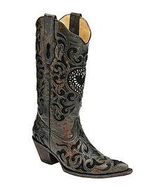 Corral Boots CrystalHeart Boots #Dillards
