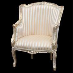 stripey gold white chair