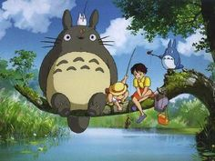 totoro - I used to watch this every summer at my grandparent's house as a kid...