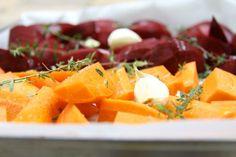 barbabietole e carote al forno