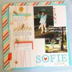 Retro Fresh More Masculine Layout ~~ Stampin' Up!