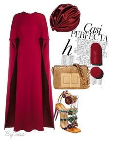 """""""Untitled #817"""" by crisa-gloria-eduardo ❤ liked on Polyvore featuring Christian Louboutin, Valentino, Whiteley and Tom Ford"""