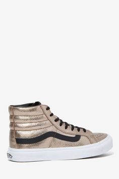 Vans Sk8-Hi Sneaker - Metallic Crackle Leather//