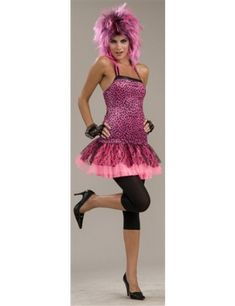 Pink Neon Funk Dress Best 80s Costumes, 80s Halloween Costumes, Cyndi Lauper Costume, Madonna Costume, 80s Outfit, 80s Fashion, Fashion Accessories, Neon, Pink