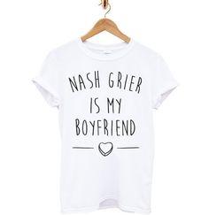Nash Grier Is My Boyfriend T Shirt Tumblr Tee T Shirt T-Shirt TShirt Tee Shirt Unisex - Size S M L XL XXL statement blogger One Direction on Etsy, $13.69