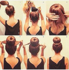 Easy Sock bun This one is super easy! Literally takes seconds!! ♥