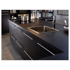 """LANSA Handle, stainless steel - stainless steel - 33 """" - IKEA way cheaper than the bar pulls anywhere else. Cheap way to update cabinetry. Design Your Kitchen, Interior Design Kitchen, Kitchen Decor, Ikea Kitchen, Kitchen Ideas, Base Cabinets, Kitchen Cabinets, Corner Base Cabinet, Kitchen Upgrades"""