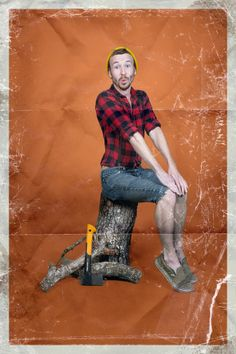 Men Photographed in Stereotypical Pin-Up Poses