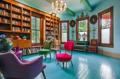 """Author Sandra Cisneros has sold her King William home — the same structure that stirred controversy in the late for its """"periwinkle purple"""" color — to an undisclosed buyer, Phyllis Browning real estate agent Ann Van Pelt confirmed Wednesday. Sandra Cisneros, All White Room, White Rooms, King William, Blue Floor, House Colors, My Dream Home, San Antonio, Home And Family"""