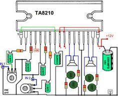 amplificador TA8210AH TA8210AL