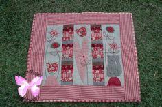 Flores Rosas Patchwork: Quilt de Natalie Bird, de Symply Vintage.