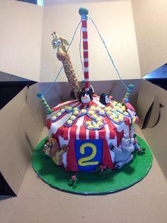 Gâteau cirque Madagascar fondant