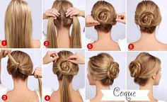 Easy Quick Twisted Bun Hairstyle Pictures, Photos, and Images for Facebook, Tumblr, Pinterest, and Twitter