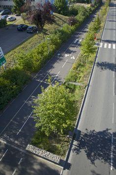 Highway Architecture, Landscape Architecture Model, Park Landscape, Green Landscape, Landscape Design, Paris Saclay, Parque Industrial, New Urbanism, Urban Design Plan