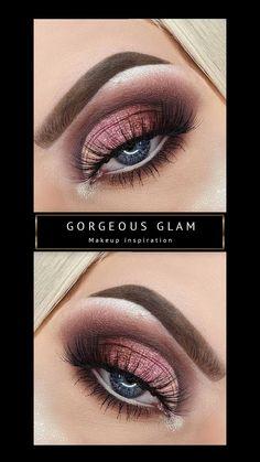 Grey Eye Makeup, Smoky Eye Makeup, Makeup Eye Looks, Beautiful Eye Makeup, Skin Makeup, Beauty Makeup, Burgundy Eyeshadow Looks, Pink Eyeshadow Look, Fall Eyeshadow Looks