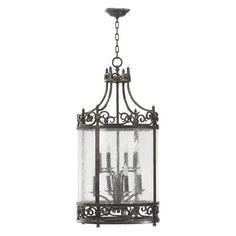 Quorum International 6793-8-50 8 Light Lorenco Entry Foyer Light, Spanish Silver