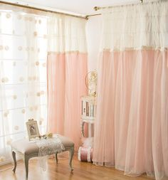 $150.00 Housekeeping wife Korean household imports romantic bedroom decoration window screen cut off the living room curtains
