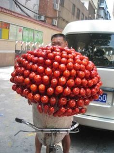 Candied apples for sale in Beijing