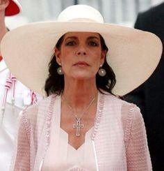 Caroline at the wedding of Prince Albert and Princess Charlene