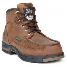 Georgia Boot Athens Leather Moc-Toe Work Shoes for men are waterproof leather boots available now at Discount Safety Gear. Steel Toe Work Shoes, Steel Toe Boots, Duty Boots, Georgia Boots, Shoes Stand, Comfortable Boots, Cool Boots, Men's Boots, Boots Online