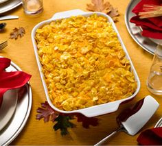 Try this delicious new Thanksgiving Favorite from Kellogg's® Corn Flakes® Crunchy Hashbrown Casserole! #HomemadeHoliday