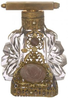 DEVILBISS Perfume atomizer in amber glass