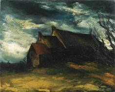 Maurice de Vlaminck - MAISONS, oil on canvas
