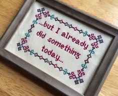 PATTERN But I Already Did Something Today Cross Stitch Funny Pop Culture Crossstitch Titus Quote Instant Download PDF