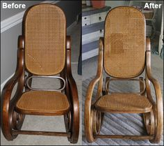 Sawdust Designs: Bentwood Rocker Comes Back to Life