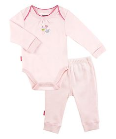 Loving this Pink Bedtime Stories Bodysuit & Play Pants - Preemie & Infant on #zulily! #zulilyfinds