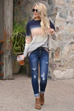 Skinny Jeans Fall Outfit Fashion Ideas For Women Denim Jeans Fall Outfit Fashion Ideas For Women – Searching for Casual Jeans Outfit Fashion Inspo for women? Check out our collection of women's Ripped Jeans to find all the latest syles Denim Jeans online. Cute Fall Outfits, Fall Winter Outfits, Stylish Outfits, Spring Outfits, Stylish Jeans, Winter Dress Outfits, Fall Outfits For Work, Winter Fashion Outfits, Casual Jeans