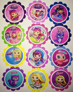 Little Charmers birthday decor cupcake toppers por AivanCreations Little Charmers, Birthday Decorations, Cupcake Toppers, Party Favors, Alice, Birthdays, Birthday Parties, Kids Rugs, Bows
