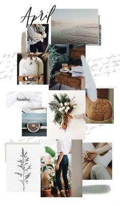 April Background and Monthly Goals Sweet Horizon Web Design, Website Design, Design Blog, Layout Design, Studio Design, Inspiration Boards, Graphic Design Inspiration, Moodboard Inspiration, Style Inspiration
